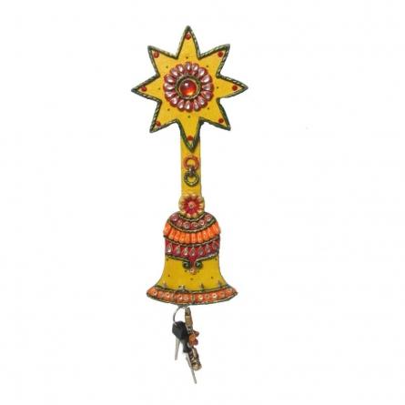 Bell Key Hanger | Craft by artist Ecraft India | Paper