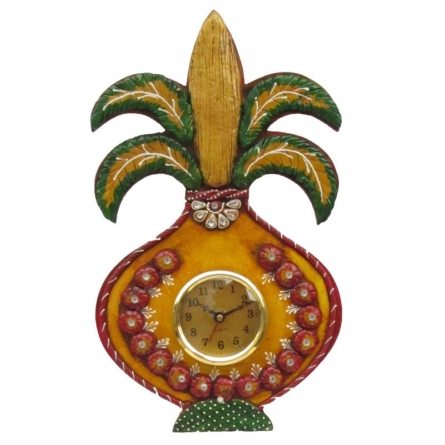 Ecraft India | Kalash Clock Craft Craft by artist Ecraft India | Indian Handicraft | ArtZolo.com