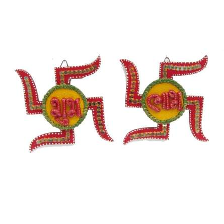 Swastik Shubh Labh Wall Hanging | Craft by artist Ecraft India | Paper