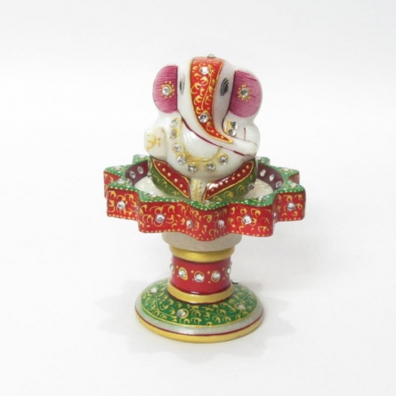 Ganesha On Marble Stand | Craft by artist Ecraft India | Marble