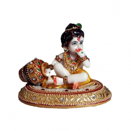 Laddu Gopal Eating Makhan | Craft by artist Ecraft India | Marble