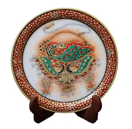 Ecraft India | Marble Plate 1 Craft Craft by artist Ecraft India | Indian Handicraft | ArtZolo.com