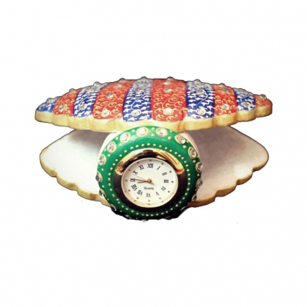 Shell Clock | Craft by artist Ecraft India | Marble