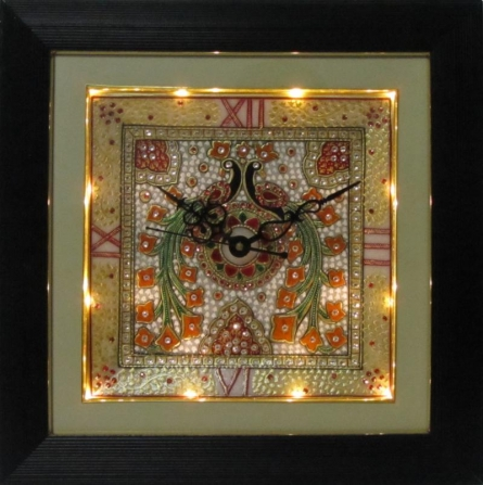 Marble Wall Clock  1 | Craft by artist Ecraft India | Marble