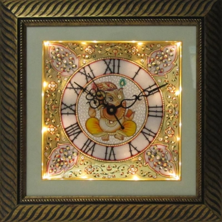 Marble Wall Clock  3 | Craft by artist Ecraft India | Marble