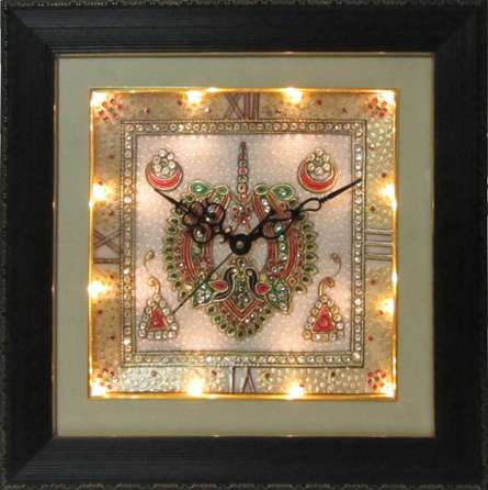 Marble Wall Clock  4 | Craft by artist Ecraft India | Marble