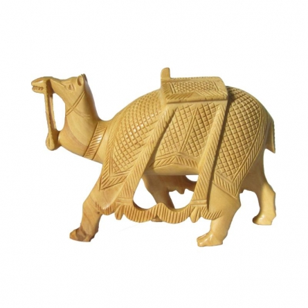 Carved Camel | Craft by artist Ecraft India | wood