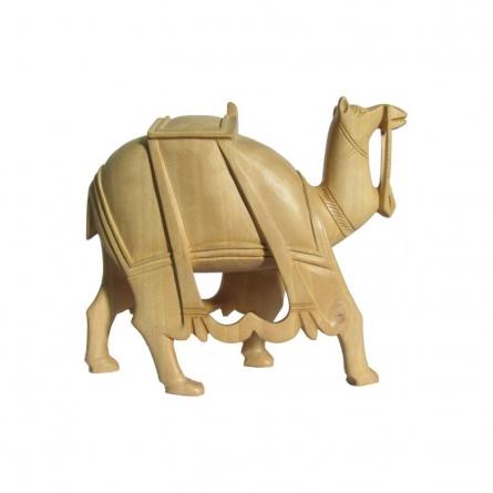 Wooden Camel | Craft by artist Ecraft India | wood