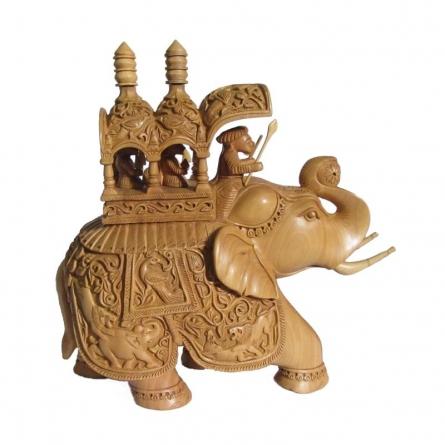 Ambabari Elephant   Craft by artist Ecraft India   wood