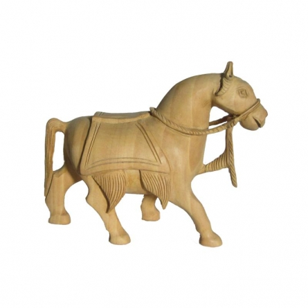 Carved Horse | Craft by artist Ecraft India | wood