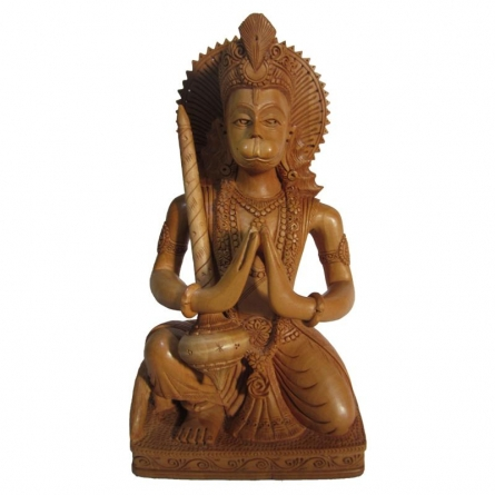 Lord Hanuman Welcomes | Craft by artist Ecraft India | wood