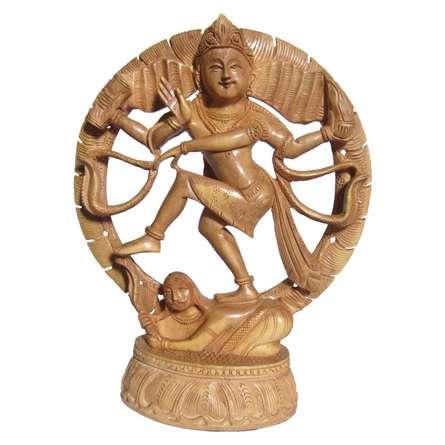 Lord Nataraja   Craft by artist Ecraft India   wood