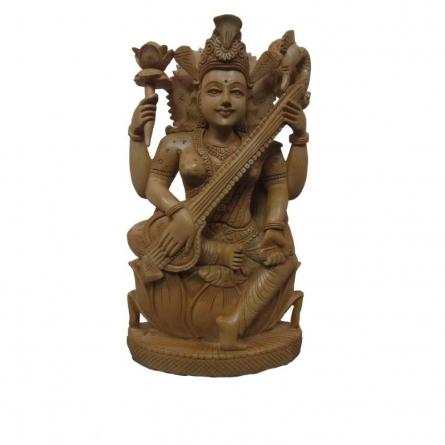 Ecraft India | Goddess Saraswati Playing Sitar O Craft Craft by artist Ecraft India | Indian Handicraft | ArtZolo.com