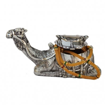 White Metal Decorative Camel Statue | Craft by artist E Craft | Metal