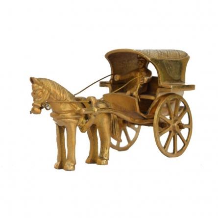 Metal Showpiece of Chariot   Craft by artist E Craft   Brass