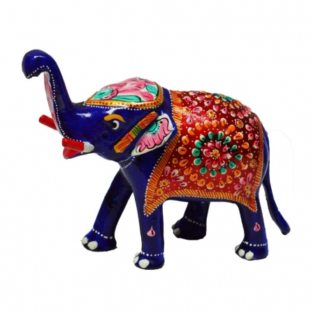 Meenakari Delightful Elephant | Craft by artist E Craft | Metal
