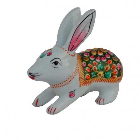 E Craft | Meenakari Rabbit Figurine Craft Craft by artist E Craft | Indian Handicraft | ArtZolo.com