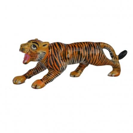 Meenakari Tiger Statue   Craft by artist E Craft   Metal