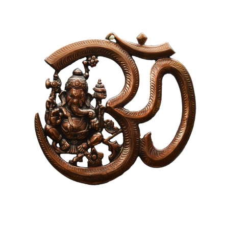 E Craft | Metal wall hanging of Ganesha with Om Craft Craft by artist E Craft | Indian Handicraft | ArtZolo.com