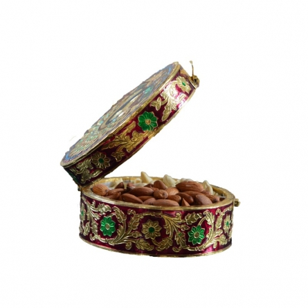 E Craft | Meenakari Dry Fruit Box Craft Craft by artist E Craft | Indian Handicraft | ArtZolo.com