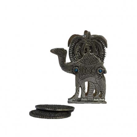 E Craft | Antique Oxidized Tea Coaster Camel Craft Craft by artist E Craft | Indian Handicraft | ArtZolo.com