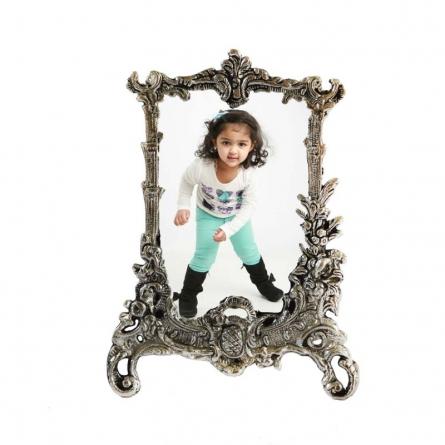 White Metal Rectangular Photo Frame | Craft by artist E Craft | Metal