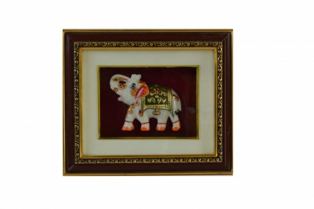 E Craft | Marble Royal Elephant Wall Hanging Craft Craft by artist E Craft | Indian Handicraft | ArtZolo.com