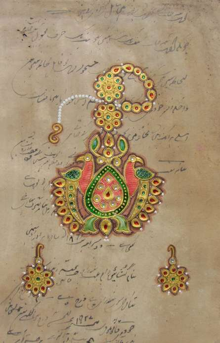 Traditional Indian art title Jewellery on Paper - Miniature Paintings