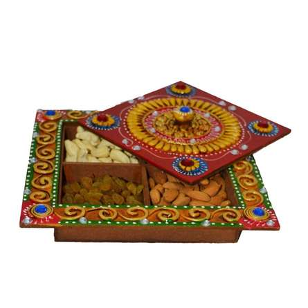 E Craft | Papier Mache Dry Fruit Box Craft Craft by artist E Craft | Indian Handicraft | ArtZolo.com