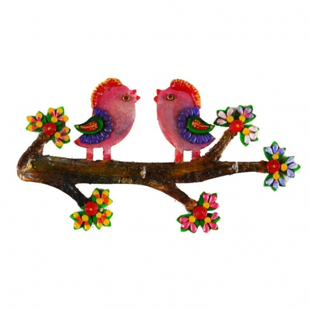 E Craft | Colorful Love Birds Key Holder Craft Craft by artist E Craft | Indian Handicraft | ArtZolo.com