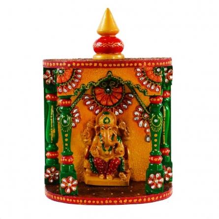 Kundan Mandir(Temple) with Lord Ganesha | Craft by artist E Craft | Paper