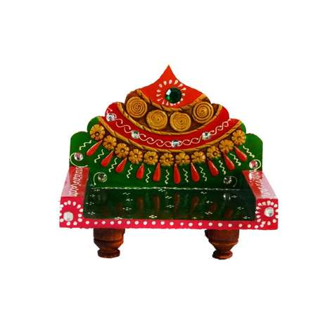 E Craft | Royal Throne for Mandir(Temple) Craft Craft by artist E Craft | Indian Handicraft | ArtZolo.com