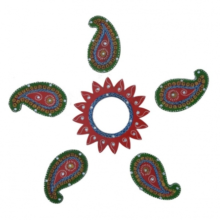 Decorative Floor Rangoli - Keri Design   Craft by artist E Craft   Paper