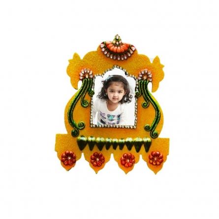 E Craft | Papier Mache Wall Hanging Photo Frame Craft Craft by artist E Craft | Indian Handicraft | ArtZolo.com