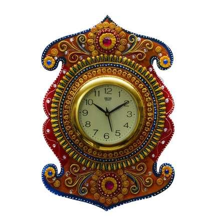 Kundan Studded Wall Clock | Craft by artist E Craft | Paper