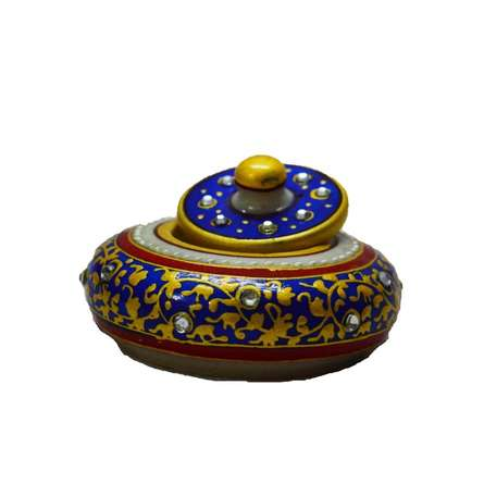 Marble Blue Sindoor Holder | Craft by artist E Craft | Marble