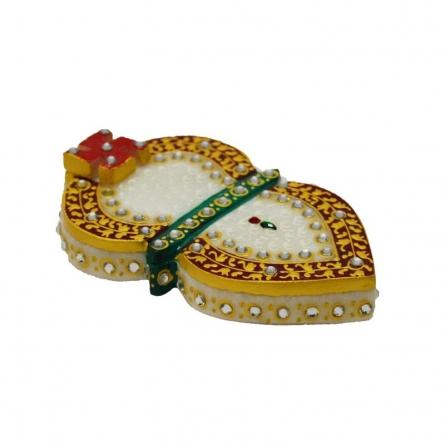 Stone Studded Marble Chopra Leaf Design | Craft by artist E Craft | Marble