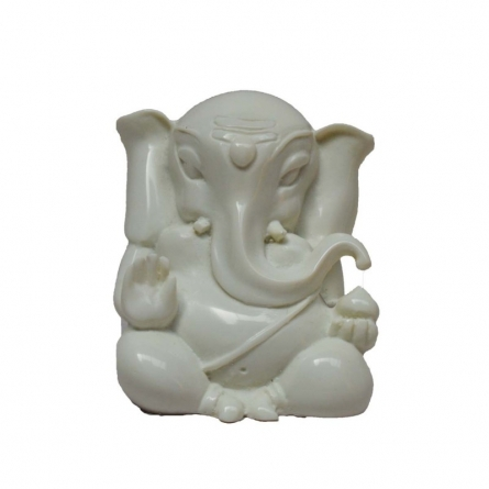 White Lord Ganesha | Craft by artist E Craft | Synthetic Fiber
