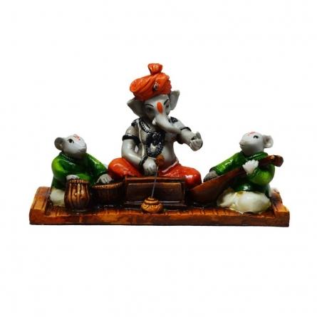 Ganesha playing Harmonium | Craft by artist E Craft | Synthetic Fiber