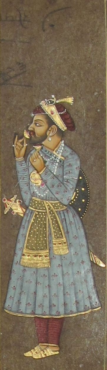 Unknown | Mughal Traditional art title Mughal King on Paper | Artist Unknown Gallery | ArtZolo.com
