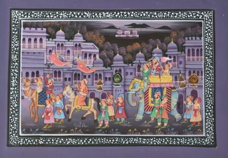 art, traditional, silk, mughal, figurative