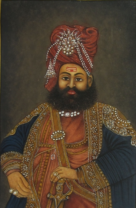 Traditional Indian art title The Nawab Of Mughal Kingdom on Paper - Mughal Paintings