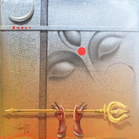 Religious Acrylic Art Painting title Durgeswaree by artist Gopal Chowdhury