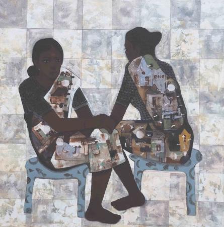 Figurative Acrylic Art Painting title Bazar by artist Harshada Kolapkar