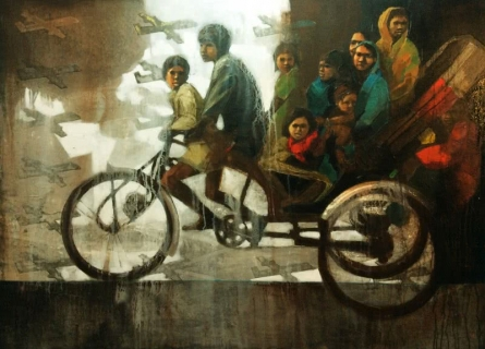 Dream Ride | Painting by artist Sanjib Gogoi | acrylic-oil | Canvas