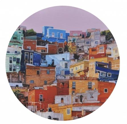 Ganesh Pokharkar | Oil Painting title Cityscape 3 on Canvas | Artist Ganesh Pokharkar Gallery | ArtZolo.com