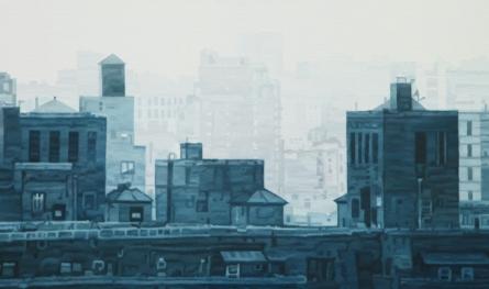 Cityscape 4 | Painting by artist Ganesh Pokharkar | oil | Canvas