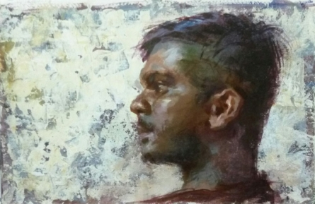 Abhijeet Patole | Oil Painting title Guitarist on Canvas | Artist Abhijeet Patole Gallery | ArtZolo.com