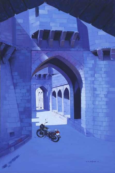 Avinash Satpute | Oil Painting title Untitled 2 on Canvas | Artist Avinash Satpute Gallery | ArtZolo.com