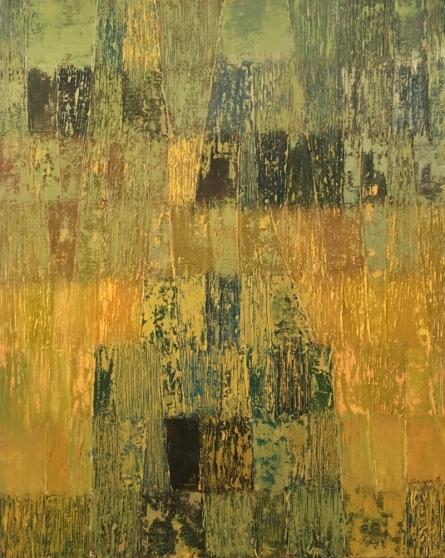 Gayatri Deshpande | Oil Painting title Innerscapes 38 on Canvas | Artist Gayatri Deshpande Gallery | ArtZolo.com